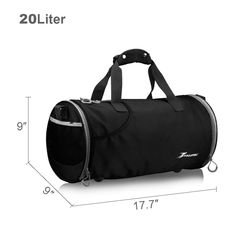 b81834a5fb YOULERBU Small Sports Gym Bag With Shoes Compartment Lightweight Waterproof Travel  Duffel Bag For Men and Women black -- Look into this excellent item.