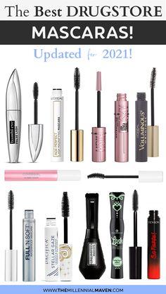 Best Drugstore Mascara, Best Mascara, Benefit Cosmetics, Too Faced, Makeup Revolution, Maybelline, Mascara Tutorial, Lengthening Mascara, Makeup Items