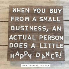 WHEN YOU BUY FROM A SMALL BUSINESS, AN ACTUAL PERSON DOES A LITTLE HAPPY DANCE!  #shoponsixth #agnesanddora #smallbusiness #smallbiz #happydance # momboss