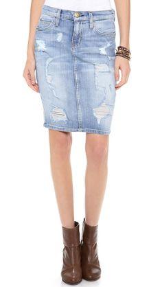 Current/Elliott The Stiletto Pencil Skirt Color: Shredded $218 Shopbop.com