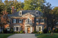 Single Family New Georgian Revival Home – Greenwich by Charles Hilton Architects
