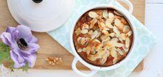 Peren ontbijtcake met walnoten en cranberries