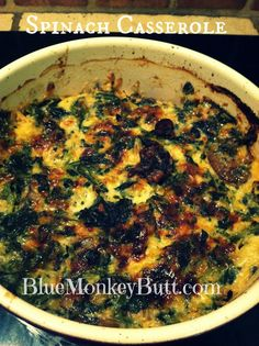 Delicious Spinach Casserole Recipe. High protein and low carb