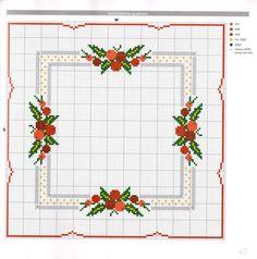 Cross Stitch Borders, Cross Stitch Designs, Cross Stitch Patterns, Christmas Cross, Xmas, Cross Stitch Cushion, Christmas Embroidery, C2c, Cross Stitch Embroidery