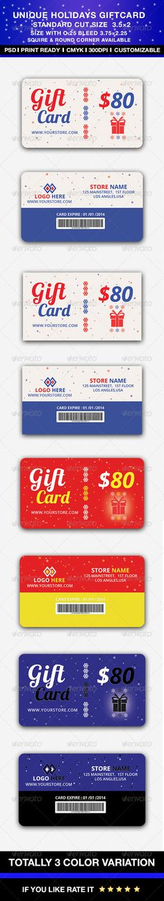 Unique Holidays Gift cardideal for any shop store,online webshop, and also it can be used for seasonal & Holidays such as christma