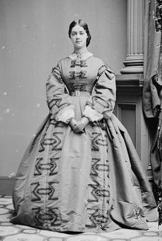 Kate Chase, the (unofficially) acknowleged social queen of Washington society during Lincoln's presidency. Mary Todd Lincoln loathed her. 1861