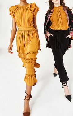 Leoda Ruffle Silk Top by ULLA JOHNSON for Preorder on Moda Operandi