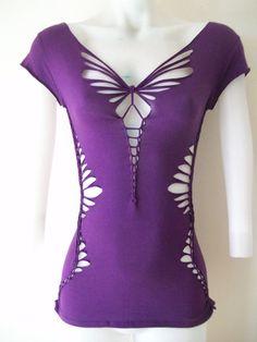 Juniors / Womens Blank Purple Cut Shirt Tshirt by LasciviousGrace, $48.00
