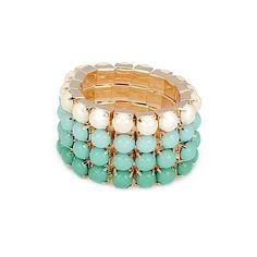 Amazon.com: The Leighton Beach Bracelet (Montego Bay Mint): Jewelry ($14) via Polyvore