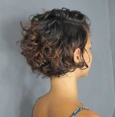 Cute Short Curly Hairstyles, Curly Hair Styles, Curly Hair With Bangs, Short Curly Bob, Haircuts For Curly Hair, Curly Hair Cuts, Short Hair Cuts, Latest Hairstyles, Formal Hairstyles