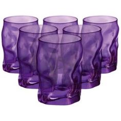 Sorgente Water Glasses in Purple - Set of 6
