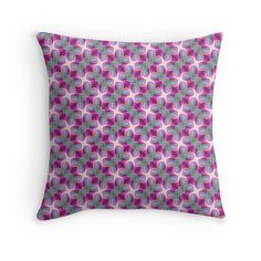"""""""Bright pattern, azure-purple"""" Throw Pillows by floraaplus 