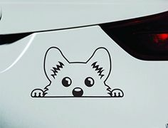 Corgi Peeking Dog Symbol Decal Funny Car Truck Sticker Window (Black) ExpressDecor http://www.amazon.com/dp/B00RNC92C0/ref=cm_sw_r_pi_dp_jLcRub0JVXVYT