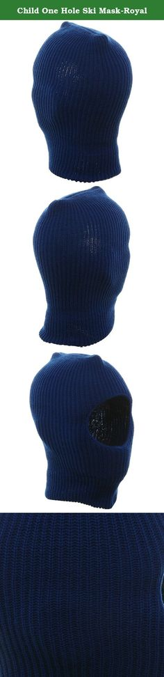 Child One Hole Ski Mask-Royal. For full coverage of your entire head from the cold and other extreme elements, slip on this very stretchy, double layered acrylic ski mask with eye opening. Generously constructed out of 1 panel of loose medium knit acrylic, to give it a lot of flexibility, the mask will keep your head and neck well insulated from the cold while giving you an ample opening that wont compromise your line of vision. This lightweight mask is ideal for all activities involving…