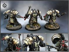 Space Marine Centurions of the Black Templars Chapter.