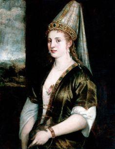 El pintor venecianoTiziano realizó un retrato más o menos fidedigno de Roxelana, que fue comentado con tal identidad por el historiador Giorgio Vasari. Dicho cuadro se conserva en el Museo Ringling de Sarasota (Estados Unidos).