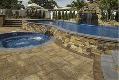 This gorgeous outdoor living space features Cambridge's Canyon Ledge stone veneer  in Santa Fe. Click the photo, to see all of the stone veneer options.