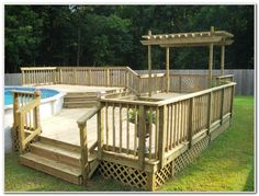 Above Ground Pool Deck Design Ideas