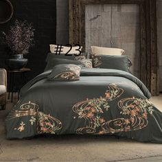 4 Pcs Luxury Royal Bedding Sets with Embroidery King Queen Size Duvet Cover Bed Sheet Pillowcase Lit Queen Size, Queen Size Bed Sets, Queen Size Duvet Covers, Duvet Cover Sets, King Size, Luxury Comforter Sets, Luxury Duvet Covers, Queen Bedding Sets, Houses