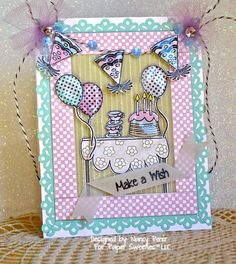 Paper Sweeties August Challenge and 2nd Birthday Celebration by Nancy Penir