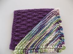 Crochet & Knit  Dish Cloths  Blackberry  and by DelsYarnBasket