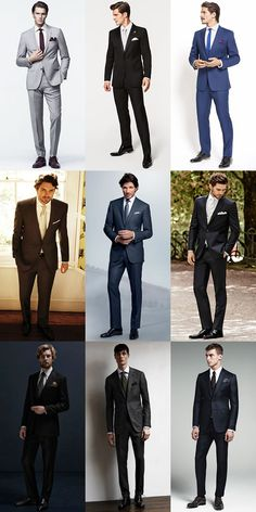 Men's Wedding/Groom Outfit Inspiration Lookbook - Classic Single-Breasted Suits