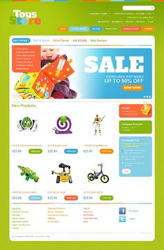 Toys Store Magento Themes by Hermes