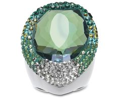 Statement #gift for fashionistas: #Swarovski Hyacinth Green Ring