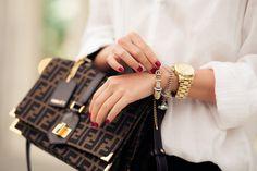 Wanderlust + Co // Full-Circle Gold Charm Bracelet // http://www.wanderlustandco.com/shop/full-circle-gold-charm-bracelet/