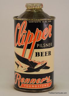 Clipper Pilsner Beer cone top can  #craftbeer #beer