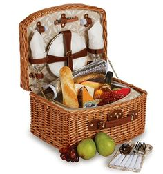 Cute wedding gift.... Wine Picnic Baskets (Picnic Playground): Deluxe Insulated Benton Picnic Basket for two