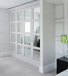 Trendy bedroom closet doors mirror walk in Ideas Bedroom Closet Doors, Bedroom Closet Design, Bedroom Cupboards, Bedroom Wardrobe, Master Closet, Bedroom Decor, Mirrored Closet Doors, Ikea Wardrobe, Sliding Wardrobe Doors