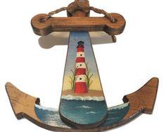 Assateague Island Lighthouse ile // El yapımı ahşap çapa Sipariş Made