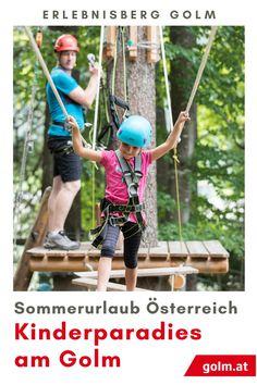 Lust auf einen erlebnisreichen Tagesausflug in Vorarlberg? Beweist eure Geschicklichkeit auf insgesamt elf Parcours auf den Bäumen am Golm im Montafon. Für Anfänger und Experten gibt es selbstverständlich verschiedene Schwierigkeitsgrade - es geht bis zu 16m über den Boden hinaus. Aber keine Angst, dank der Kletterausrüstung, die wir zur Verfügung stellen, bist Du immer auf der sicheren Seite. Ein garantierter Spaß für jeden! Angst, Elf, Day Trips, Summer Vacations, Ski, Elves, Fairy, Female Elf