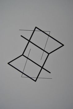 Manfred Mohr Sign A-9 Handsigniert Serigraphie auf Karton 1977 35/50 Hyperwürfel