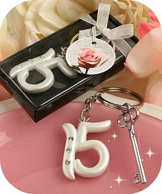 Quinceanera Key Chain Party Favors - coupon code is saveme5