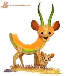 Daily Paint #1181. Cantalope by Cryptid-Creations.deviantart.com on @DeviantArt