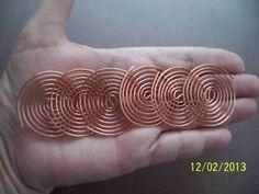 12 Large COPPER COILS - ORGONE Making Supplies, Radionics, Reiki Crystal Grids | eBay
