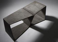 [thin] Concrete bench by Daniel Miese Raw Furniture, Concrete Furniture, Cheap Furniture, Contemporary Furniture, Luxury Furniture, Furniture Design, Street Furniture, Ceramic Furniture, Furniture Cleaning