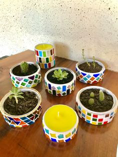 Planter Pots, Diy, Porta Velas, Recycled Cans, Upcycling, Container Plants, Cute Stuff, Room, Glass