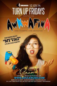 12/5 Awkwafina LIVE @ Grand SF // www.soulkrush.com