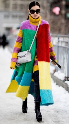 Wintry Weather Can't Stop Street Style at New York Fashion Week Fall 2017