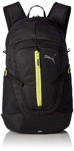 42a5615e85cf Puma 18 Ltrs Puma Black Nrgy Yellow Laptop Backpack (7488302)