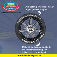 Wheel alignment and Wheel Balancing are two totally different things, but many people often get them confused.Wheel alignment consists of adjusting the angles of the wheels so that they are perpendicular to the ground and parallel to each other. Wheel Balancing, on the other hand allows the tyres and wheels to spin without causing any vibrations. #Wheel #Tyres #WheelAlignment #WheelBalancing #Ahmedabad