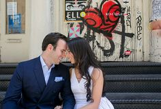 Urban Spring Engagement Session in New York City | Images by Captured Photography by Jenny | Via Modernly Wed | 02