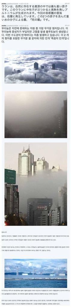 겨울철 이상발생한 도쿄 방사능 운해 - BADA.TV Ver 3.0 :: 해외 거주 한인 네트워크 - 바다 건너 이야기