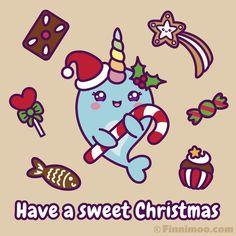 Cute Cartoon Pictures, Comic Pictures, Cartoon Pics, Kawaii Narwhal, Cute Narwhal, Kawaii Drawings, Cartoon Drawings, Cute Drawings, Funny Christmas Videos