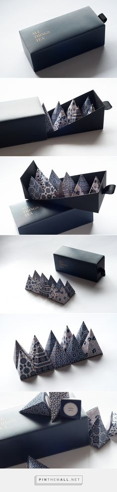 All Things Tea by Nhi Nguyen Source: Bechance. Pin curated by #SFields99 #packaging #design #inspiration #ideas #innovation #product #creative #consumer #box #drinks #beverages #tea #pyramid #illustration #pattern #typography