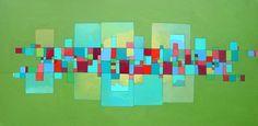 "Saatchi Online Artist: Deborah Batt; ""Community 2-5 acrylic on canvas 122cm x 61cm"