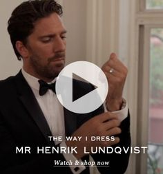 Mr Henrick Lundqvist - the Swedish NHL goaltender on how he dresses for a night on the town
